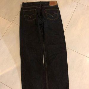 Levi's men's black jeans